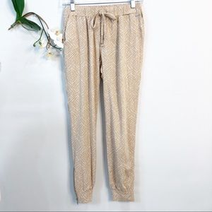 GUESS DRAWSTRING JOGGERS WITH TRIBAL DESIGN